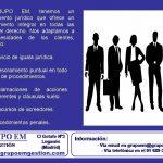 El Departamento Jurídico de GRUPO EM