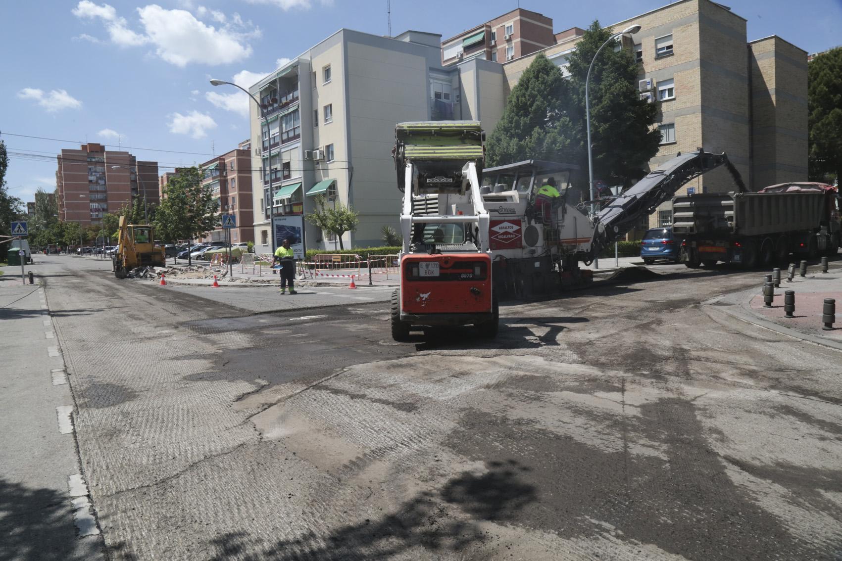Obras de mejora en las calles de Leganés